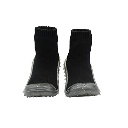 Skidders Baby Toddler Boys Grip with Rubber Soles Non-Slip Flexible Shoes Crystal Grip Limited Edition (3) Black