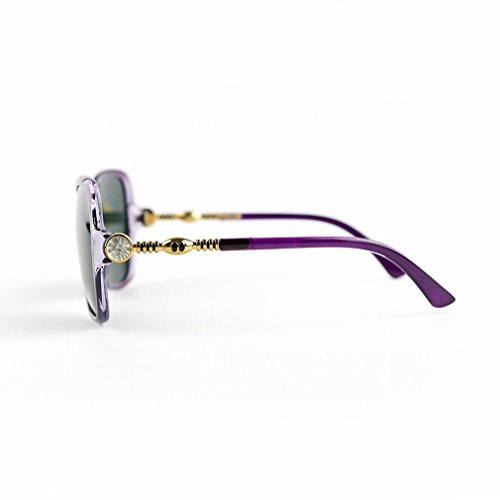 YL Polarisierte Sonnenbrille Damen Sonnenbrille Augen Rund Gesicht M?nner Schildkr?ten Sonnenbrillen,B,Konventionell