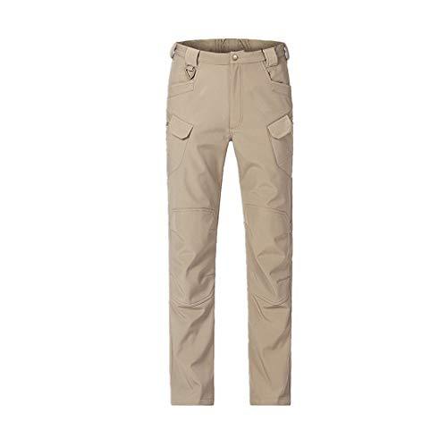 Mens Outdoor Trousers Waterproof, Chickwin Winter Sport Hiking Pants Mens Multi Pockets Walking Cycling Mountain Bike Windproof Climbing Sport Causal Pants (Khaki,S)