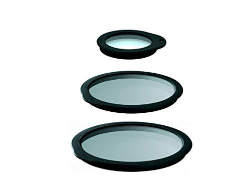 Rösle Silicone Glass Lid Set: Glass Lid 12-Inch, Glass Lid 3.9-Inch, Glass Lid 9-Inch