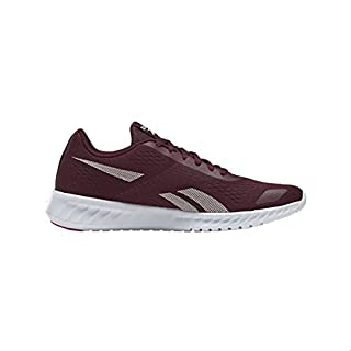 Reebok Sublite Prime 2.0 Tongue Logo Contrast Sole Lace-Up Running Shoes for Women - Maroon and Glass Pink, 38