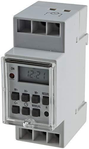 ChiliTec Zeitschaltuhr für Hutschiene Schalttafel Digital Timer 230V/16A Display Programmierbar für Woche Tag