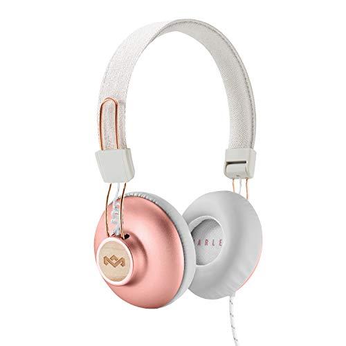 House of Marley Positive Vibration 2, Auriculares con Mic, Buzo de 40 mm, Blanco