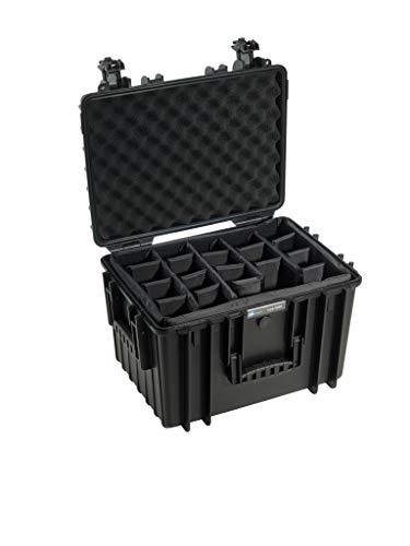 B&W Tipo 5500 RPD para Exteriores con divisores Interiores para Maleta estanca cámara Negro