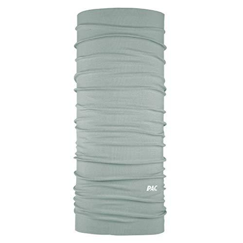 P.A.C. Original Solid Grey Multifunktionstuch - nahtloses Mikrofaser Schlauchtuch, Halstuch, Schal, Kopftuch, Unisex, 10 Anwendungsmöglichkeiten
