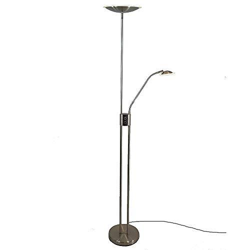 Dapo LED-Deckenfluter-Fluter LUAM mit Leseleuchte dimmbar Wohnraum-Steh-Stand-Leuchte-Lampe
