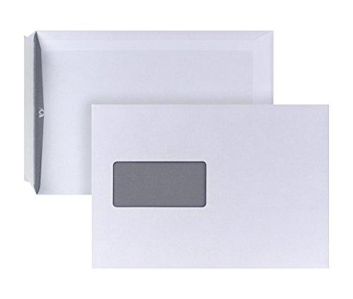 POSTHORN Versandtasche C5 (229x162mm) haftklebend mit Fenster weiß 90g 500 Stück