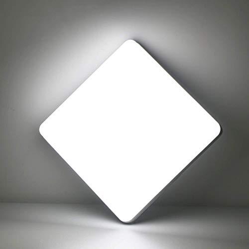 Kimjo LED Lámpara de Techo 36W Blanco Frío 6500K, Plafón de LED Cuadrado IP44 Impermeable para Baño, Luz de Techo Moderna Delgada para Cocina Dormitorio Sala de Estar Balcón Pasillo Comedor Oficina