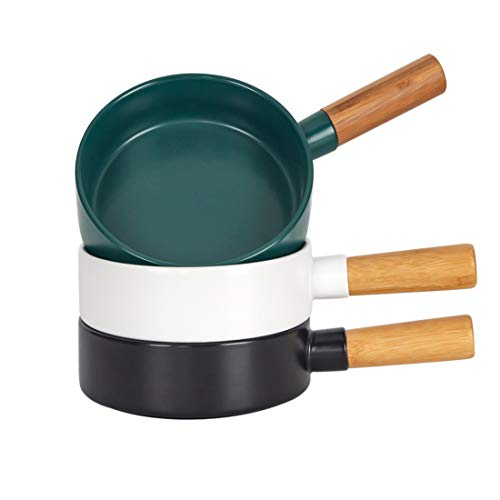 BonNoces 14 Oz Porcelain Soup Bowls, French Onion Bowl with Handle, Unique Matte Glazed Bowl Set for Soup, Salad, Chili, Cereal and Beef Stew, Set of 3 (Assorted Color02)