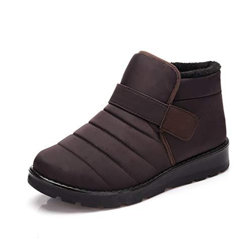 QBQCBB Damen Schneestiefel Winter Knöchel Kurze Stiefel Wasserdicht Schuhe Outdoor Booties - Beige - 36