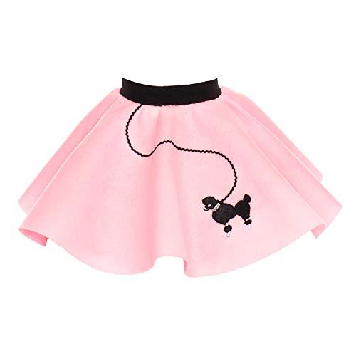 Hip Hop 50s Shop Baby and Toddler Poodle Skirt (Light Pink, Toddler)
