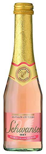 Schwansee Rosé Sekt trocken et Noir 24 x 0,2 cl, Sekt Eleganz Trier Karton Piccolo