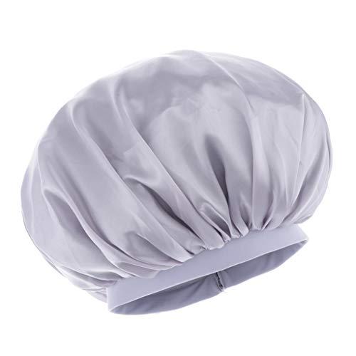 dailymall Bonnet de Nuit pour Tenir Les Cheveux Naturels/Tresses/Tissages/Rouleaux - argent