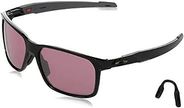 Oakley Men's OO9460 Portal X Rectangular Sunglasses, Polished Black/Prizm Dark Golf, 59 mm