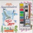 Aquarellmalerei. Mit Papier, 9 Farben, Pinsel, Stift und Mischpalette