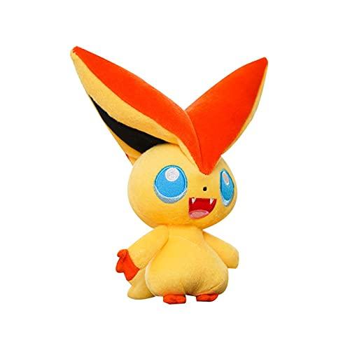 BXINZQ Anime Plüschspielzeug für Victini, 20cm Cartoon Plüsch gefülltes Tierspielzeug, Plüschpuppe Plüsch Plüschspielzeug weiche Karikatur Anime Plüschpuppe, für Kinder.