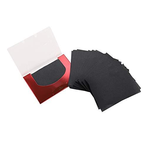 Film de contrôle de l'huile de charbon de bambou, papier buvard, feuille de contrôle de l'huile papier buvard propre nettoyage de la peau Mack up contrôle de l'huile pour le nettoyage du