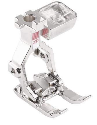 SEW-LINK # 20d - vorne offener Schuh stickfuß für bernina 125 Activa, 135 Activa, artista 640, artista 730 (730e), b710, b720, Aurora 430
