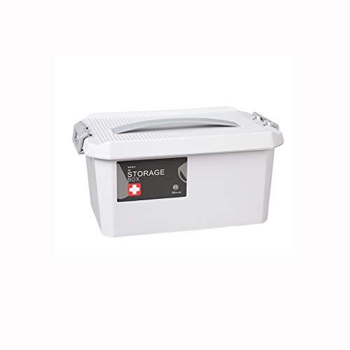 Zoavash Haushaltsmedizin Box Medizin Aufbewahrungsbox Tragbare Verbandskasten Mehrschichtige Mehrere Größe Optional Hyococ (Color : Gray, Size : 29×17×14.5cm)