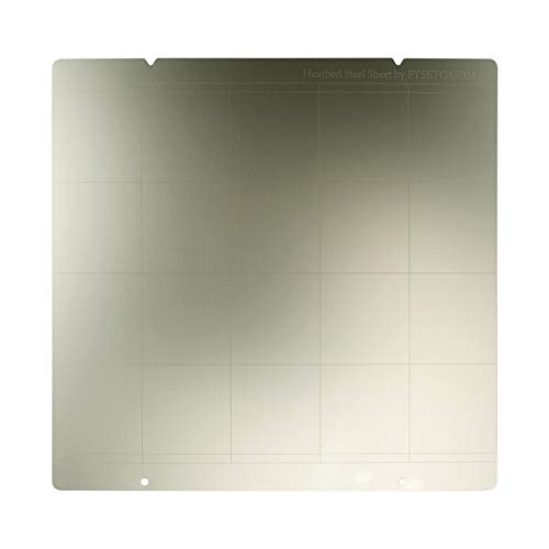 FYSETC 3D Printer MK3 Spring Steel Sheet Heat Bed Platform, MK52 Printing Buildplate with Hole for Prua i3 MK3 MK2.5