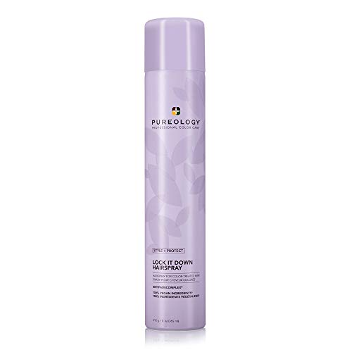 Pureology Style + Protect Lock It Down Hairspray | For Color-Treated Hair | Maximum Hold & Radiant...
