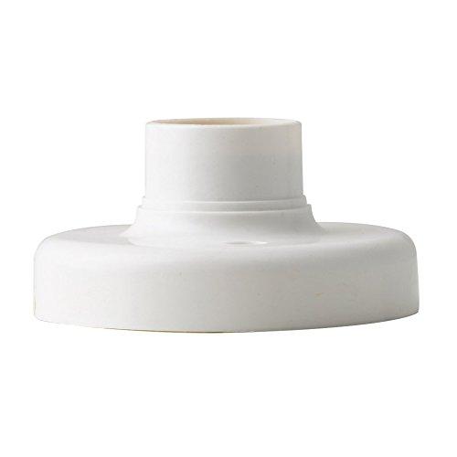 Útil E27 Ronda Base de Plástico Tornillo Bombilla Lámpara Socket Titular Blanco E27 Base Lámpara Socket Popular Lámpara Titular