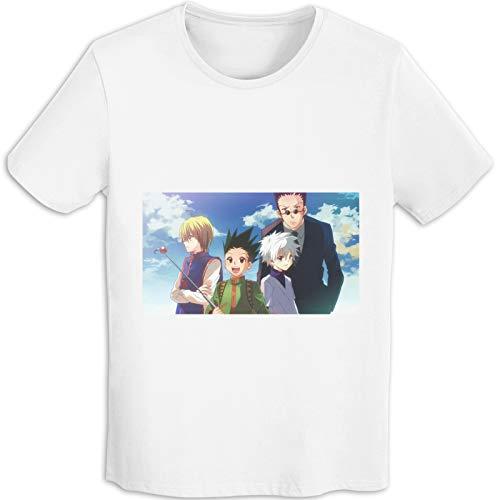 Hunter×Hunter - Camiseta de algodón para hombre, cuello redondo, manga corta