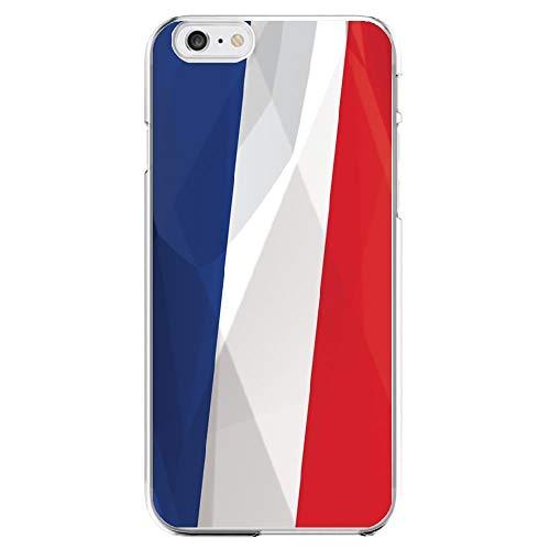 Shot case beschermhoes gemaakt van siliconen voor iPhone 5/5S/SE, motief: Franse vlag, transparant, gel, zacht