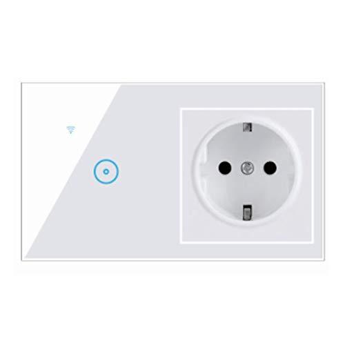 SKYSE Interruptor táctil inteligente Wifi Interruptor de luz inteligente eléctrico Panel de...