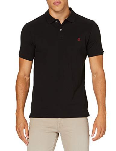 Springfield Slim Basic-c/01 Polo, Negro (Black 1), M (Tamaño del Fabricante: M) para Hombre