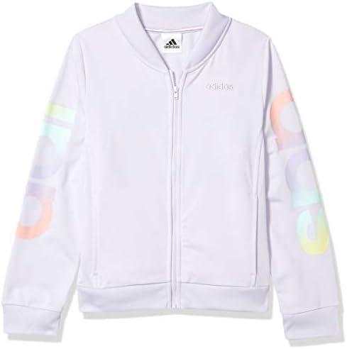adidas Girls Big Active Sports Athletic Tricot Bomber Jacket Linear Purple Tint Medium product image