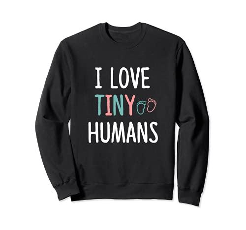 NICU Nurse Love Tiny Humans - Disfraz de enfermera neonatal RN Gifts Sudadera