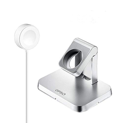 Stand per Apple Watch,[MFi Certificato] OPSO Charging Dock Supporto con Cavo Magnetico per Apple Watch/iWatch Series 1/2/3/4 38mm 40mm 42mm 44mm-3.3Feet(1 metro)