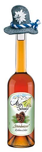 Alpenschnaps | Steinbeisser | 1 x 500ml | Zirbe Obstbrände | pures Alpenglück im Glas | Premium–Schnaps