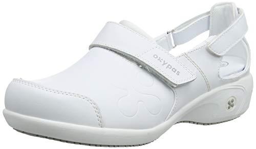 Oxypas Move Up Salma Slip-resistant, Antistatic Nursing Shoes, White, 5.5 UK (39 EU)