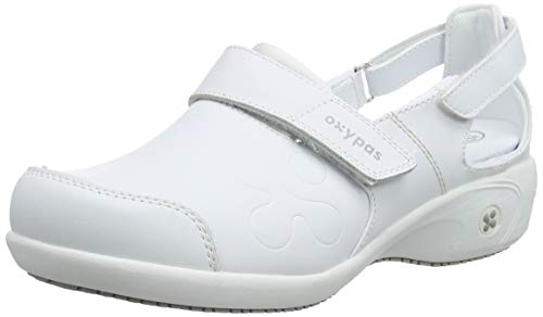 Oxypas Move Up Salma Slip-resistant, Antistatic Nursing Shoes, White, 5.5 UK (39 EU)