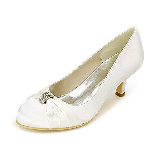 Zapatos De Boda De Satén para Mujer para Novia Zapatos De Salón...