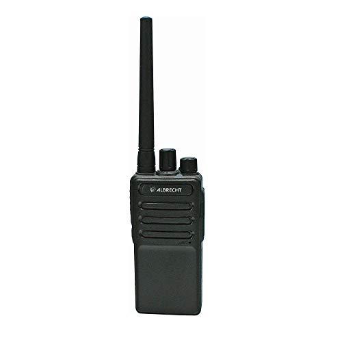 Albrecht Tectalk Worker 2 PMR446-Einzelgerät, 29839, Robustes Walkie-Talkie für Baustelle, Security, Betrieb, Outdoor, inkl. Zubehör