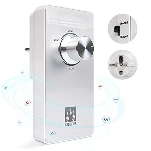 Generador de ozono, purificador de aire, esterilizador de Spessn, purificador de aire, generador de ozono para habitaciones, baños, mascotas, formaldehído y olor, alta eficiencia