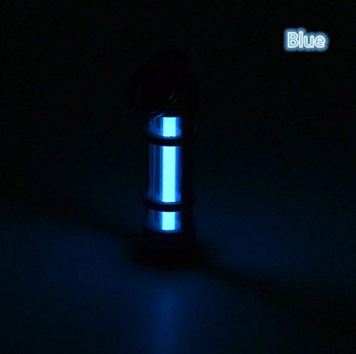 Key Chain Tube Lamp Self Luminous 25 Years Fluorescent Vial Key Ring Hurricane Emergency Survival Lights for Outdoor (Blue)
