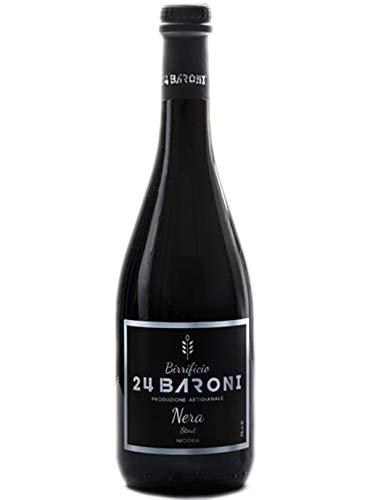 Sicilia Bedda - BIRRIFICIO 24 BARONI - BIRRA NON FILTRATA - 3 Bottiglie da 75 Cl - Produzione Artigianale (BIRRA NERA)