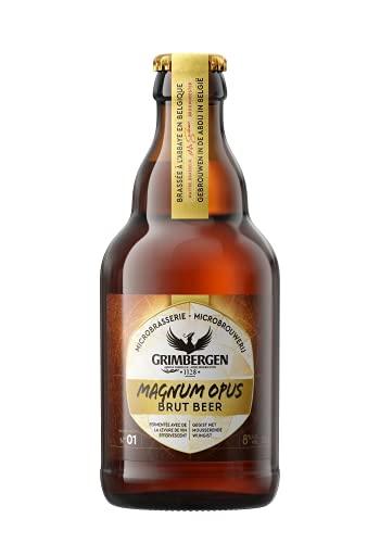 Grimbergen Magnum Opus Brut Birra - Confezione da 12 Bottiglie 33 cl
