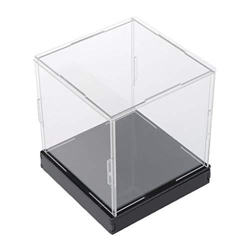 sharprepublic Caja de Presentación de Acrílico Transparente Estuche de Exposición Expositor a Prueba Ae Polvo para Figuras - 20x20x20cm