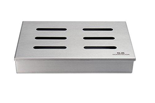 G.a HOMEFAVOR Räucherbox Smoker für Gas- und Holzkohlegrills