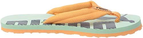 PUMA Unisex-Kinder Epic Flip V2 Ps Zapatos de Playa y Piscina, Grün (Mist Green-Cantaloupe), 34.5 EU