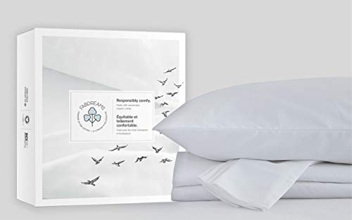 100% Organic Cotton King White Sheet Set | 400 Thread Count Now $39.53 (Was $75.99)