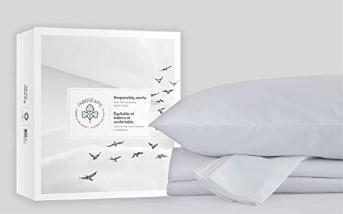 100% Organic Cotton Queen White Sheet Set   Sateen Weave