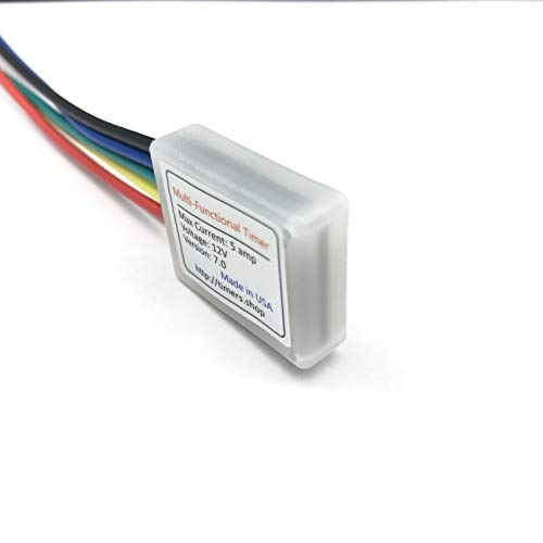 Mini Timer Time Delay Relay .1 Sec to 400 days. 3V 12V 18V 5A. Power on or Off Delay, Cycling and More. Compatible with B00PD65UGA