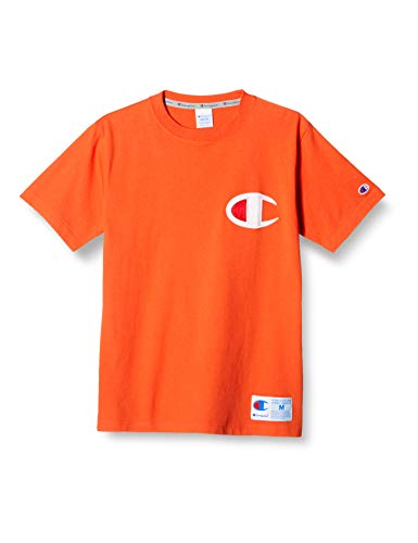 [チャンピオン] Tシャツ 半袖 綿100% 定番 ビッグCロゴアップリケ ジョックタグ付き ショートスリーブTシャツ C3-R304 メンズ オレンジシャーベット S