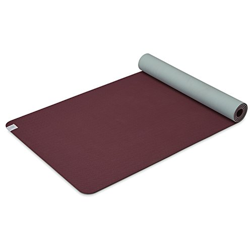 Gaiam Yoga Mat Performance TPE Exercise & Fitness Mat for All Types of Yoga, Pilates & Floor Exercises, Sangria/Lagoon, 6mm